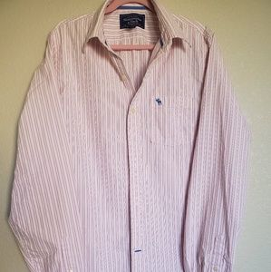 Abercrombie Men's Muscle Dress Shirt Sz XXL